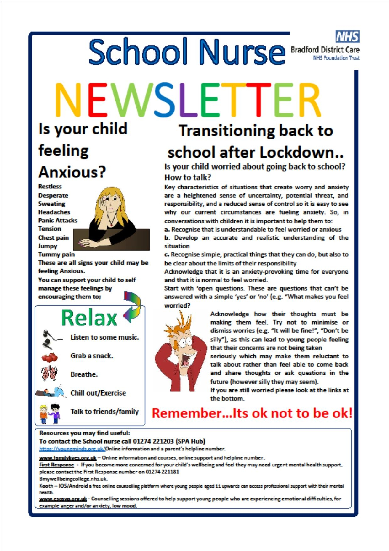 School nurse newsletter